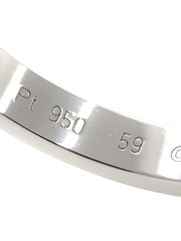 CartierC ドゥ カルティエ カルティエ PT950 エングレーブド リング 18 5号 1週間保証b05j h12eW9I2DbHEY