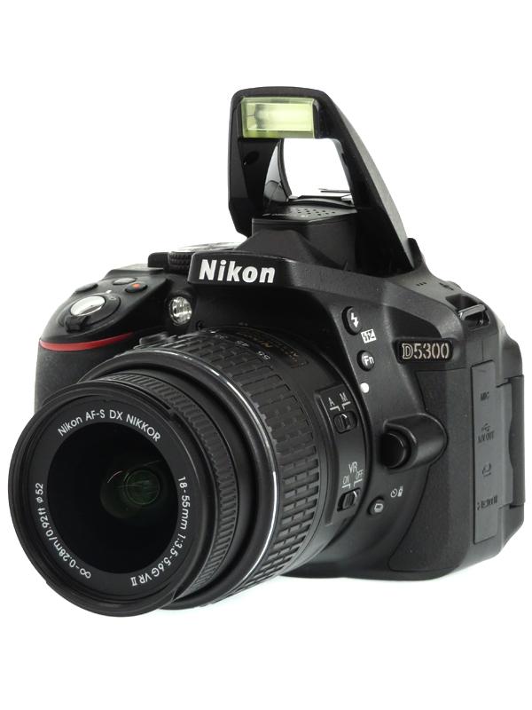 【Nikon】ニコン『D5300 18-55 VR II レンズキット』ブラック 2416万画素 DXフォーマット SDXC フルHD動画 デジタル一眼レフカメラ 1週間保証【中古】b03e/h20AB
