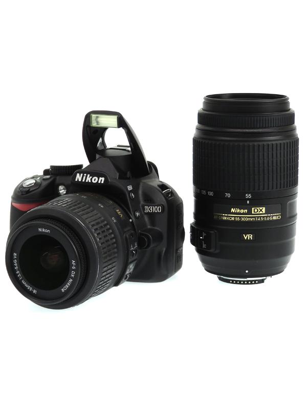 【Nikon】ニコン『D3100 ダブルズームキット』ブラック 1420万画素 DXフォーマット SDXC フルHD動画 デジタル一眼レフカメラ 1週間保証【中古】b03e/h02AB