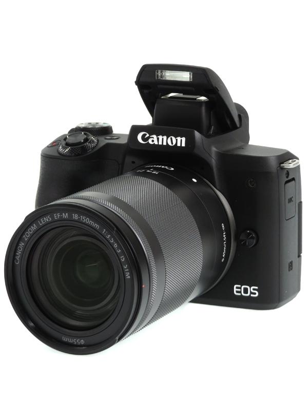 【Canon】キヤノン『EOS Kiss M EF-M18-150 IS STM レンズキット』ブラック 2410万画素 SDXC 4K動画 ミラーレス一眼カメラ 1週間保証【中古】b03e/h02A