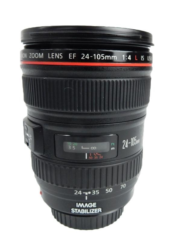 【Canon】キヤノン『EF24-105mm F4L IS USM』EF24-10540LIS 非球面 標準ズーム 一眼レフカメラ用レンズ 1週間保証【中古】b03e/h03AB