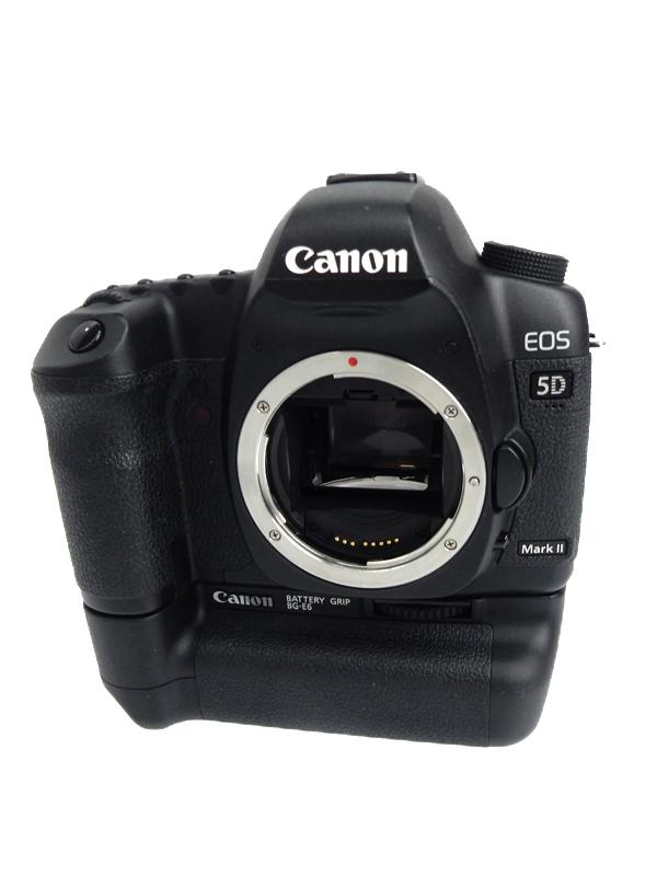 【Canon】キヤノン『EOS 5D Mark IIボディ バッテリーグリップ付き』2110万画素 3インチ デジタル一眼レフカメラ 1週間保証【中古】b06e/h17B