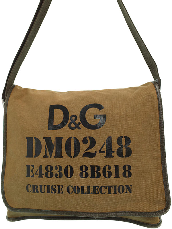 【D&G】【ポーチ付】ディーアンドジー『ショルダーバッグ』メンズ 1週間保証【中古】b05b/h10BC