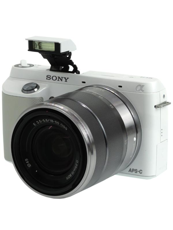 【SONY】ソニー『α NEX-F3ズームレンズキット』NEX-F3K(W) ホワイト 1610万画素 APS-C フルHD動画 デジタル一眼カメラ 1週間保証【中古】b03e/h11AB