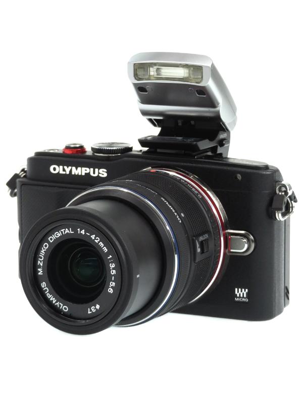 【OLYMPUS】オリンパス『OLYMPUS PEN Lite E-PL6 レンズキット』ブラック 1605万画素 SDXC フルHD動画 ミラーレス一眼カメラ 1週間保証【中古】b03e/h04AB