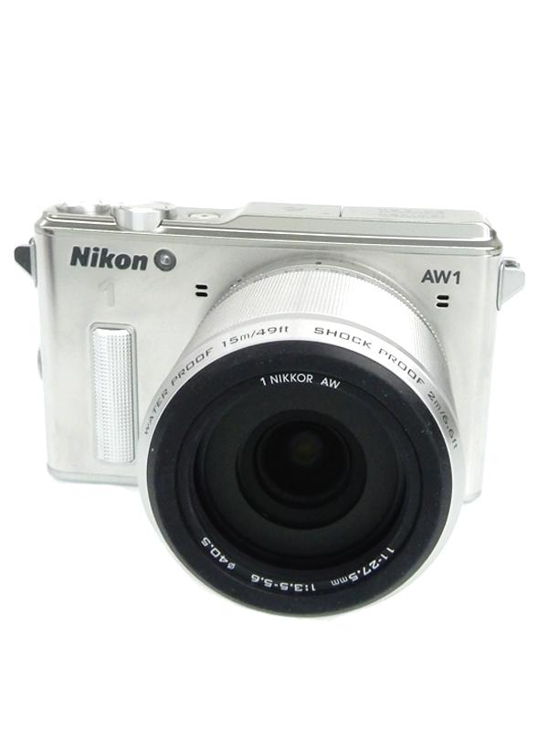 【Nikon】ニコン『Nikon 1 AW1防水ズームレンズキット』シルバー 1425万画素 フルHD SDXC ミラーレス一眼カメラ 1週間保証【中古】b05e/h10A
