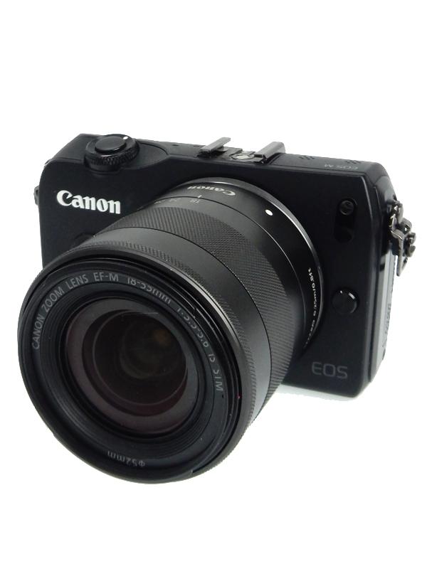 【Canon】キヤノン『EOS M レンズキット EF-M18-55mm F3.5-5.6 IS STM』1800万画素 3インチ ミラーレス一眼カメラ 1週間保証【中古】b06e/h12AB