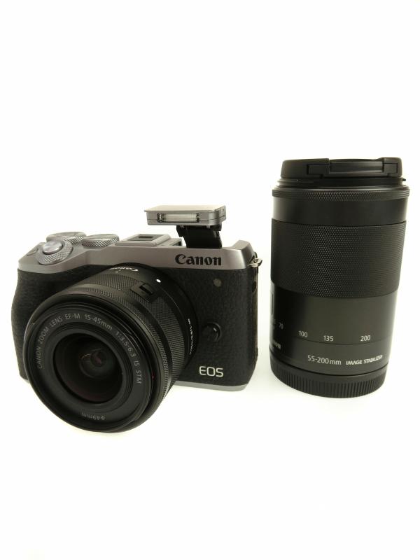 【Canon】キヤノン『EOS M6 Mark II ダブルズームキット シルバー』ミラーレス一眼カメラ 1週間保証【中古】b06e/h17AB