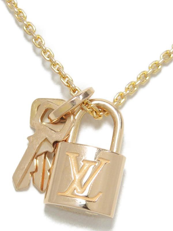 【Louis Vuitton】ルイヴィトン『K18PG パンダンティフ ロックイット』Q93341 ネックレス 1週間保証【中古】b06j/h17A
