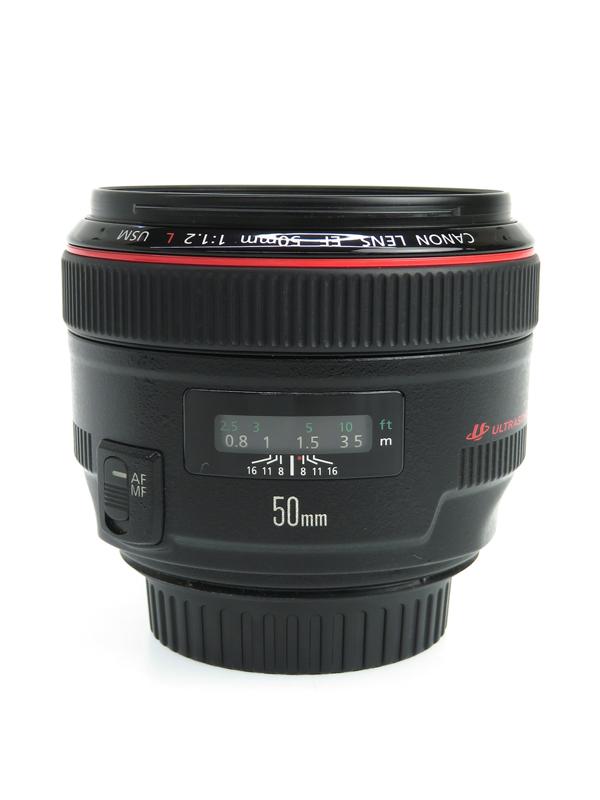 【Canon】キヤノン『EF50mm F1.2L USM』EF5012LU 超大口径・標準単焦点 デジタル一眼レフカメラ用レンズ 1週間保証【中古】b06e/h09AB