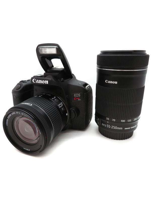 【Canon】キヤノン『EOS Kiss X9i ダブルズームキット キヤノンEFマウント APS-C』2017年 デジタル一眼レフカメラ 1週間保証【中古】b06e/h17AB