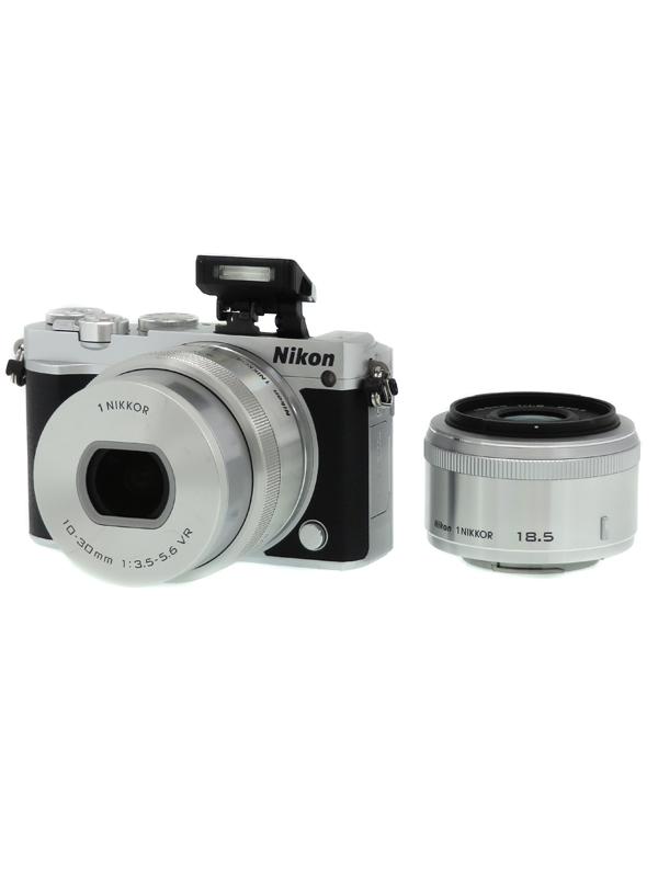 【Nikon】ニコン『Nikon 1 J5 ダブルレンズキット』シルバー 2081万画素 CXフォーマット SDXC Wi-Fi 4K動画 ミラーレス一眼カメラ 1週間保証【中古】b03e/h03AB