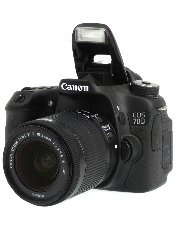 【Canon】キヤノン『EOS 70D EF-S18-55 IS STMレンズキット』EOS70D1855ISSTMLK EF-S 2020万画素 SDXC フルHD動画 デジタル一眼レフカメラ 1週間保証【中古】b03e/h04AB