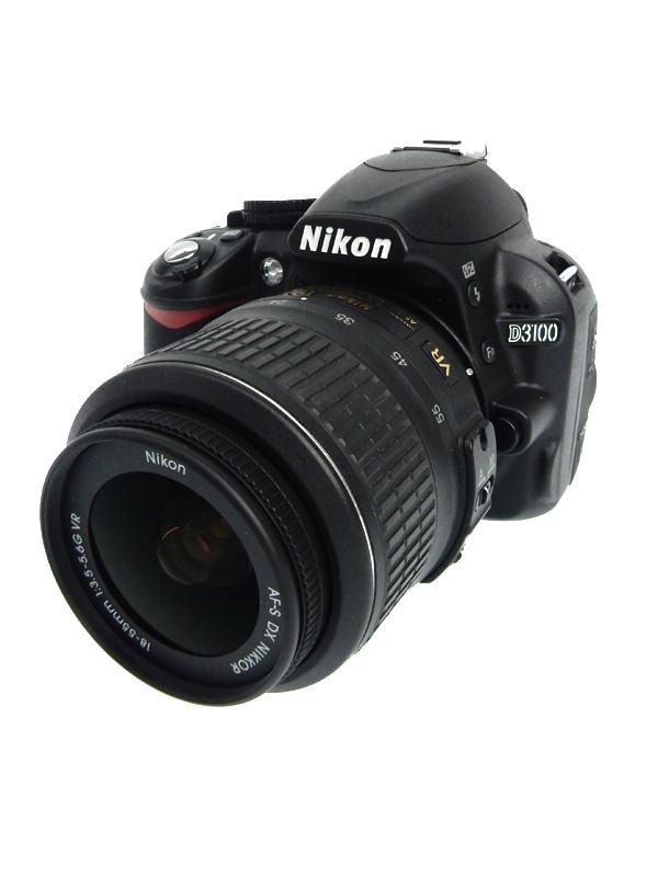 【Nikon】ニコン『D3100 レンズキット』ブラック 1420万画素 3インチ 手ブレ補正 デジタル一眼レフカメラ 1週間保証【中古】b06e/h12B