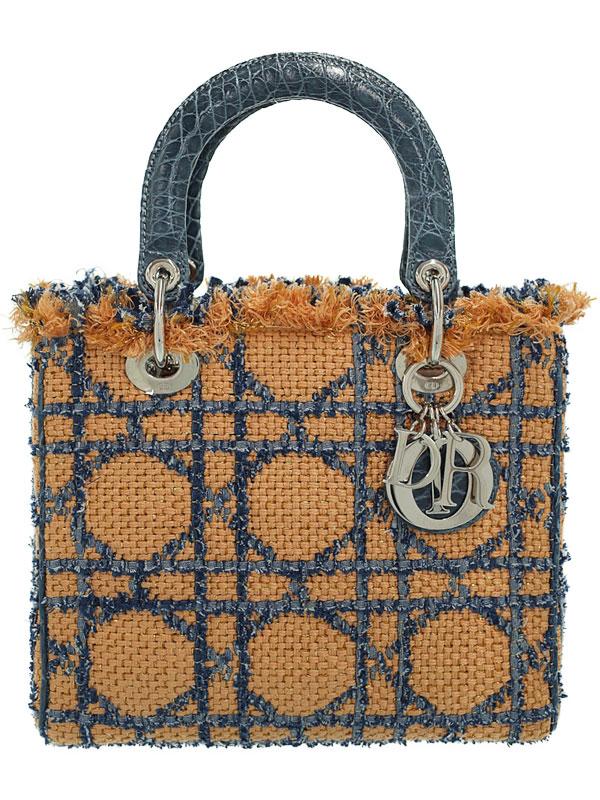 【Christian Dior】【フリンジ】クリスチャンディオール『レディディオール(M)』レディース ハンドバッグ 1週間保証【中古】b01b/h03A