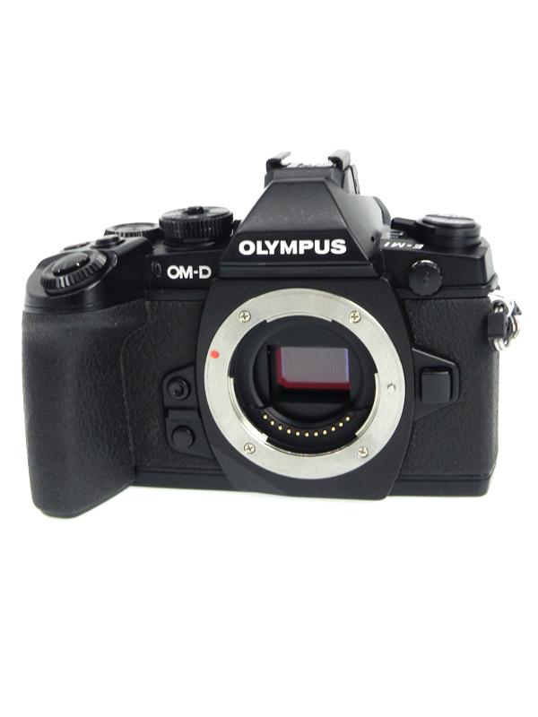 【OLYMPUS】オリンパス『OM-D E-M1 ボディ』ブラック 1628万画素 Wi-Fi SDXC フルHD動画 ミラーレス一眼カメラ 1週間保証【中古】b06e/h16AB