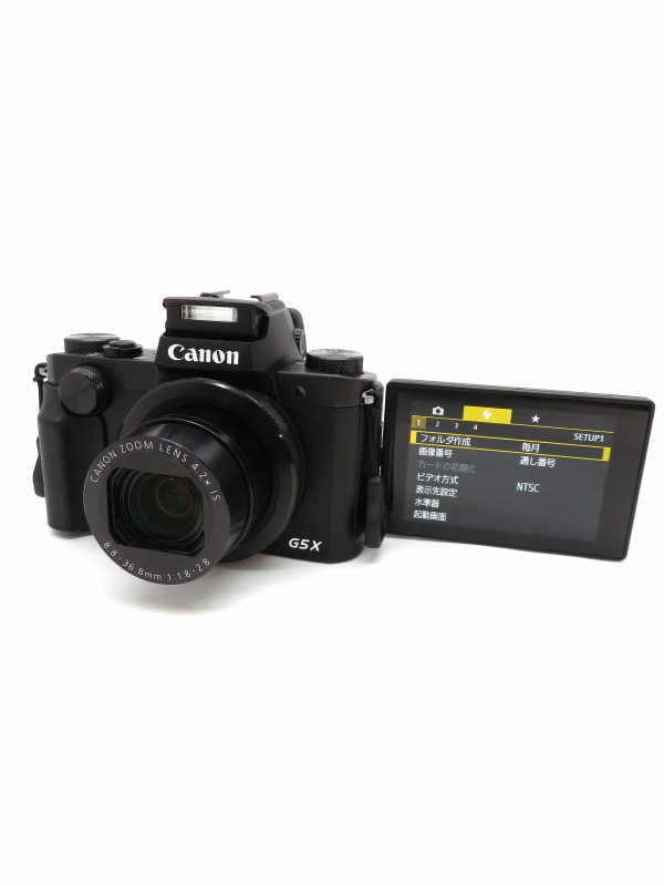 【Canon】キヤノン『PowerShot G5 X』PSG5X 2020万画素 光学4.2倍 Wi-Fi フルHD動画 コンパクトデジタルカメラ 1週間保証【中古】b06e/h17AB
