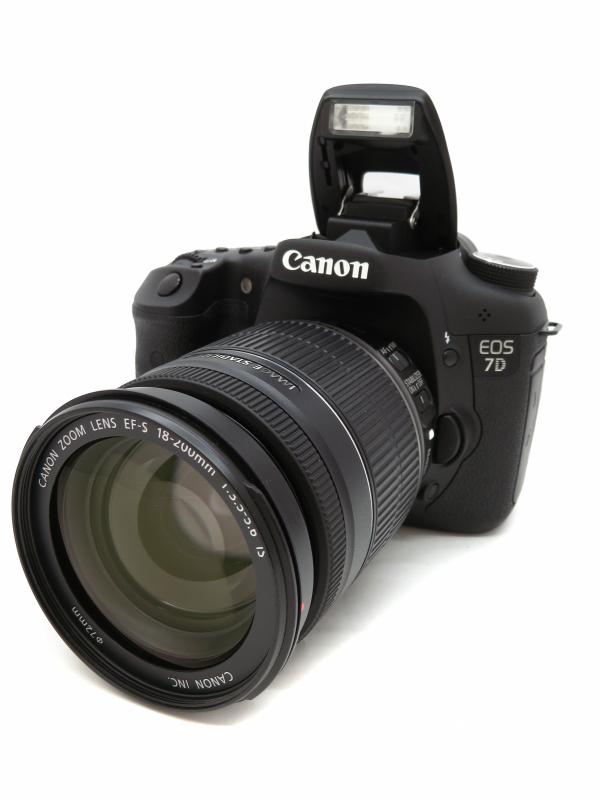 【Canon】キヤノン『EOS 7D EF-S18-200 IS レンズキット』1800万画素 CFカード フルHD動画 デジタル一眼レフカメラ 1週間保証【中古】b06e/h13AB