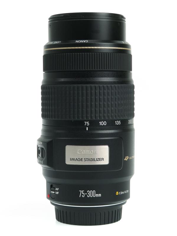 【Canon】キヤノン『EF75-300mm F4-5.6 IS USM』EF75300IS 35mm一眼レフカメラ用望遠ズームレンズ 1995年モデル 1週間保証【中古】b03e/h04AB