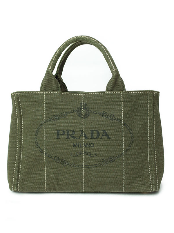 【PRADA】プラダ『ミニカナパ ハンドバッグ』レディース 1週間保証【中古】b01b/h17AB