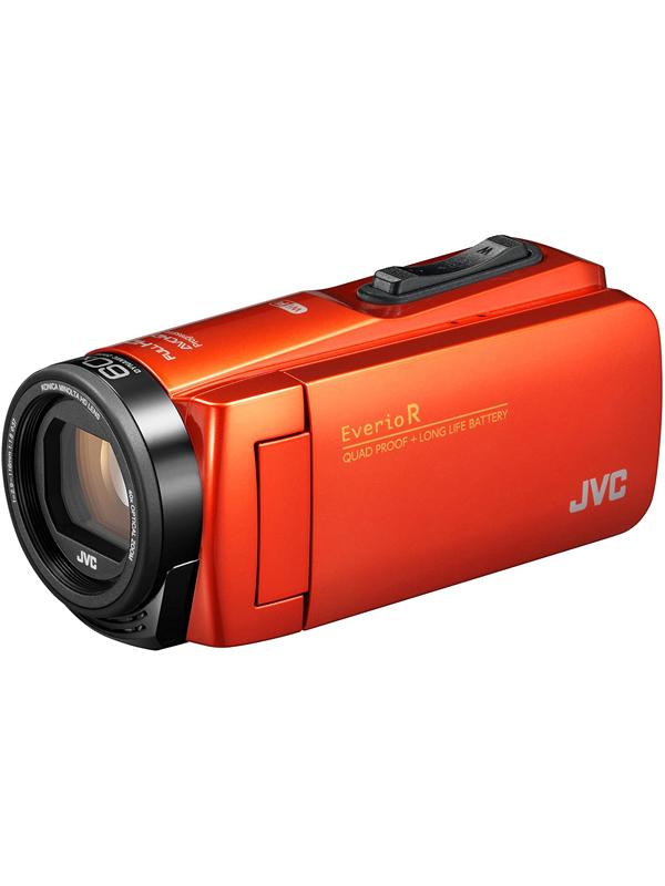 【JVC】ジェイブイシー『Everio R(エブリオアール)』GZ-RX680-D ブラッドオレンジ フルHD 水洗いOK 光学40倍 64GB SDXC デジタルビデオカメラ 1週間保証【中古】b06e/h17S