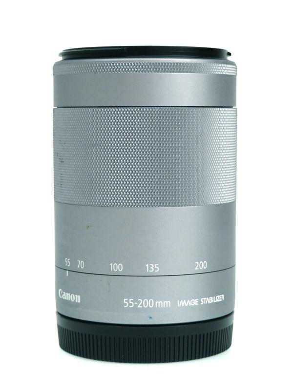 【Canon】キヤノン『EF-M55-200mm F4.5-6.3 IS STM』EF-M55-200ISSTMSL ミラーレスEOS専用望遠ズームレンズ 1週間保証【中古】b05e/h10B