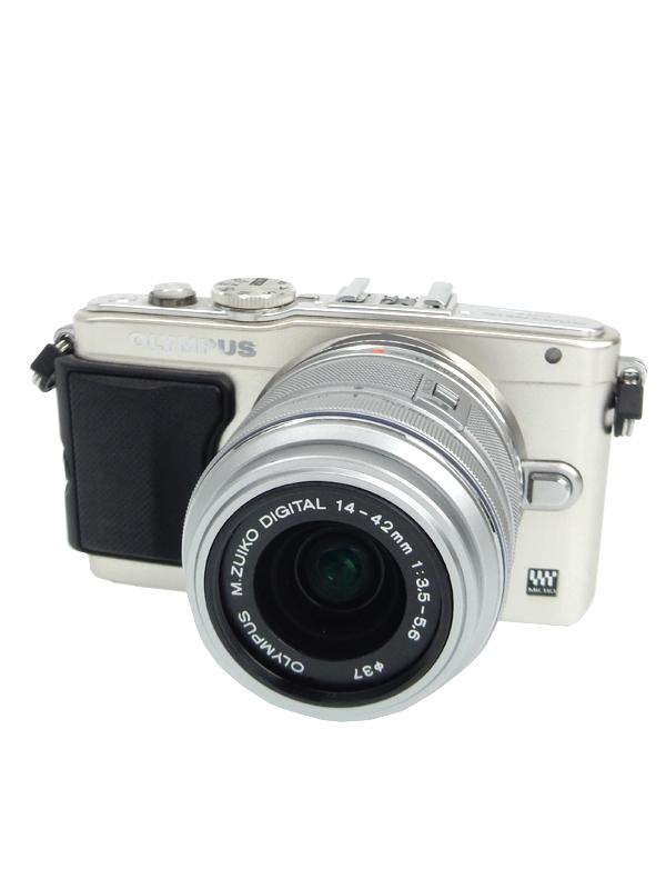 【OLYMPUS】オリンパス『OLYMPUS PEN Lite E-PL6 レンズキット』シルバー 1605万画素 SDXC フルHD動画 ミラーレス一眼カメラ 1週間保証【中古】b06e/h19B
