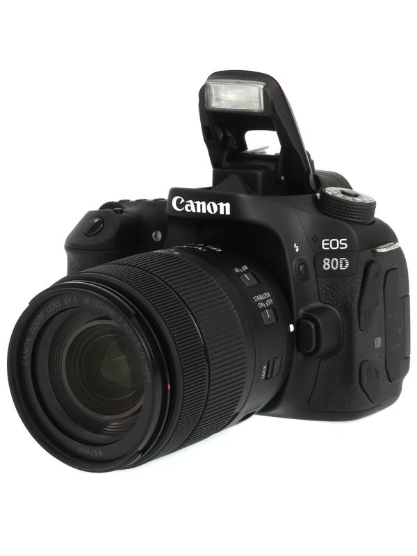【Canon】キヤノン『EOS 80D EF-S 18-135 IS USMレンズキット』2420万画素 EF-S SDXC フルHD動画 デジタル一眼レフカメラ 1週間保証【中古】b06e/h18A