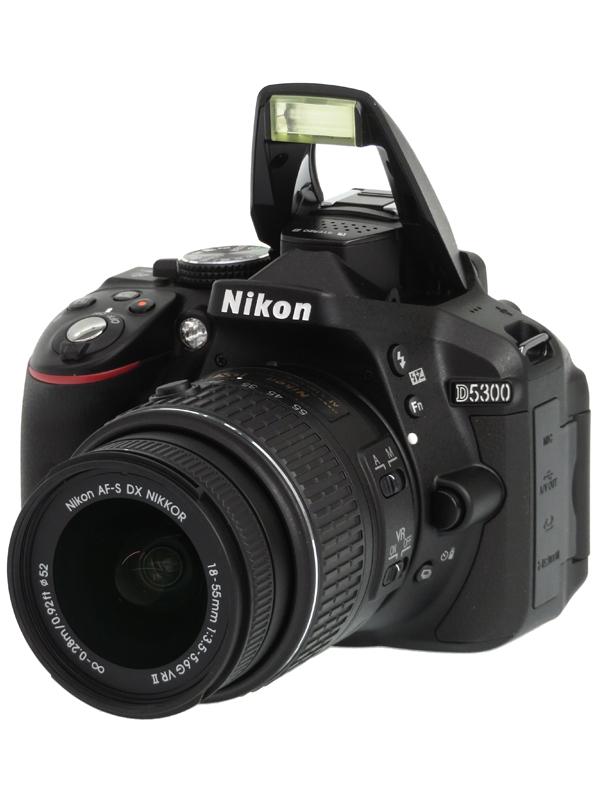 【Nikon】ニコン『D5300 18-55 VR II レンズキット』ブラック 2416万画素 DXフォーマット SDXC フルHD動画 デジタル一眼レフカメラ 1週間保証【中古】b06e/h07SA