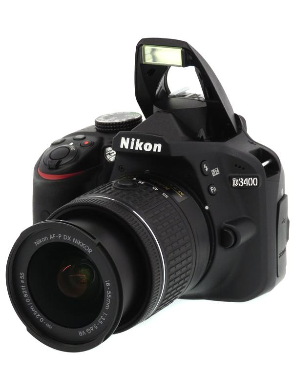 【Nikon】ニコン『D3400 18-55 VR レンズキット』ブラック 2416万画素 DXフォーマット SDXC フルHD動画 デジタル一眼レフカメラ 1週間保証【中古】b03e/h08BC