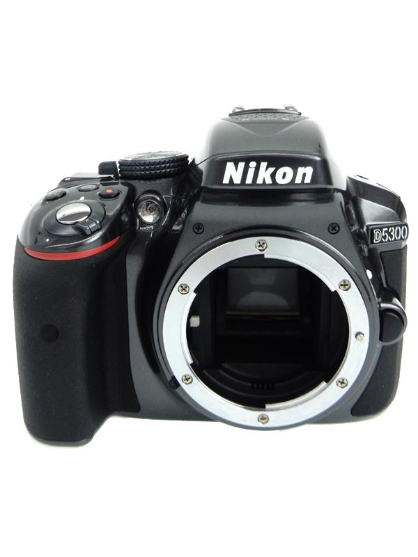 【Nikon】ニコン『D5300ボディ グレー』2416万画素 Wi-Fi機能内蔵 3.2型 デジタル一眼レフカメラ 1週間保証【中古】b06e/h02AB