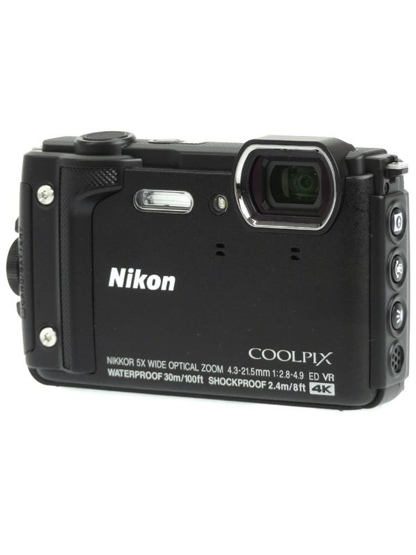 【Nikon】ニコン『COOLPIX W300』W300BK ブラック 1605万画素 光学5倍 4K動画 水深30m コンパクトデジタルカメラ 1週間保証【中古】b06e/h15A