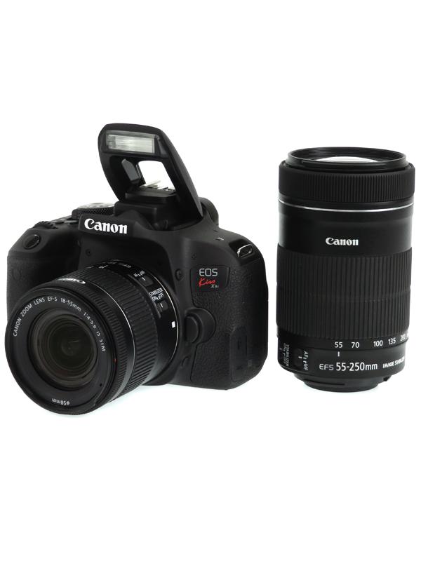 【Canon】キヤノン『EOS Kiss X9iダブルズームキット』EF-S 2420万画素 SDXC フルHD動画 デジタル一眼レフカメラ 1週間保証【中古】b06e/h15AB