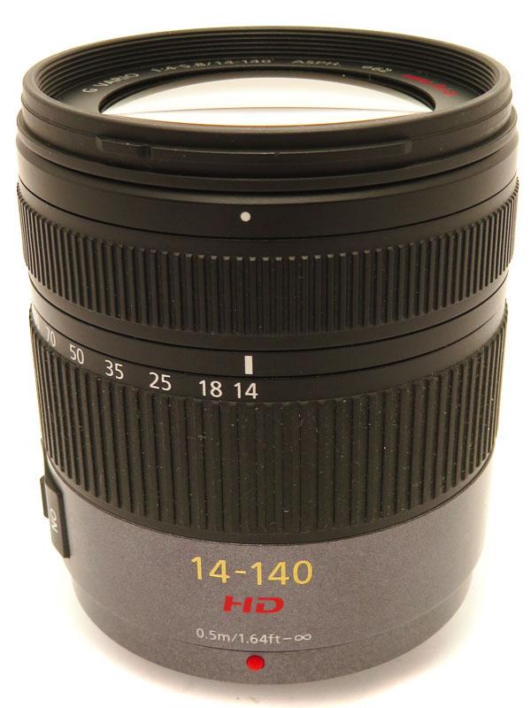 【Panasonic】パナソニック『LUMIX G VARIO HD 14-140mmF4.0-5.8 ASPH. MEGA O.I.S.』H-VS014140 レンズ 1週間保証【中古】b06e/h09B