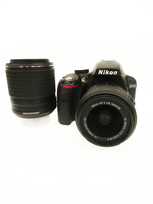 【Nikon】ニコン『D3300ダブルズームキット2』ブラック 2416万画素 DXフォーマット SDXC フルHD動画 デジタル一眼レフカメラ 1週間保証【中古】b06e/h17AB