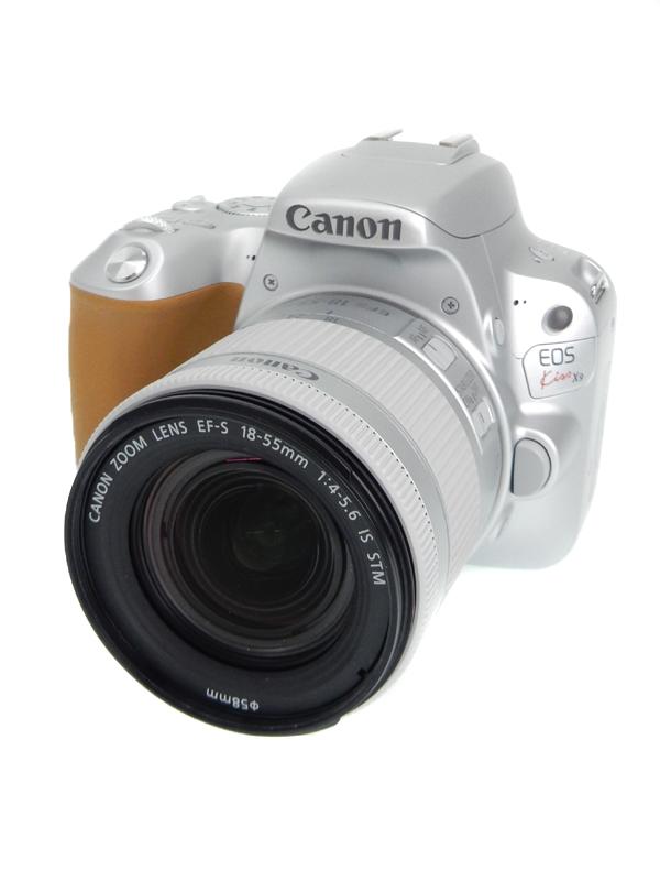【Canon】キヤノン『EOS Kiss X9 EF-S18-55 IS STM レンズキット』シルバー 2420万画素 EF-S SDXC フルHD動画 デジタル一眼レフカメラ 1週間保証【中古】b06e/h17AB