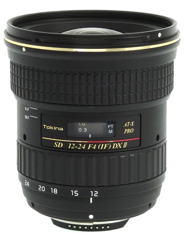 【Tokina】トキナー『AT-X 124 PRO DX 12-24mm F4』ニコンDXフォーマット 18-36mm相当 デジタル一眼レフカメラ用レンズ 1週間保証【中古】b03e/h04B