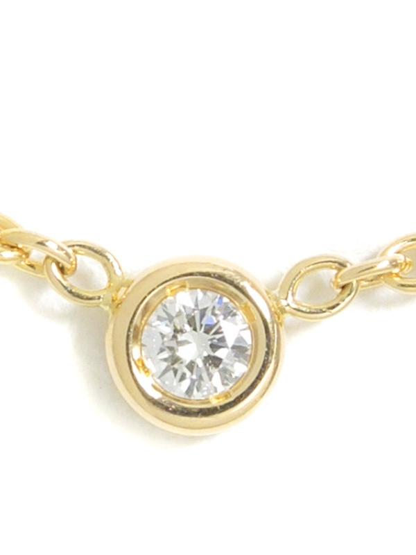 【Dior】【仕上済】ディオール『K18YG ミミウィ ネックレス 1Pダイヤモンド』1週間保証【中古】b05j/h07SA