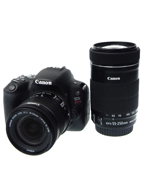 【Canon】キヤノン『EOS Kiss X9ダブルズームキット』EF-S 2420万画素 SDXC フルHD動画 デジタル一眼レフカメラ 1週間保証【中古】b06e/h17AB