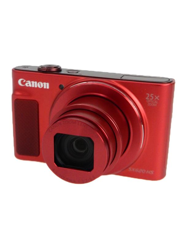 【Canon】キヤノン『PowerShot(パワーショット) SX620 HS』PSSX620HS レッド 2020万画素 光学ズーム25倍 Wi-Fi コンパクトデジタルカメラ 1週間保証【中古】b05e/h12B