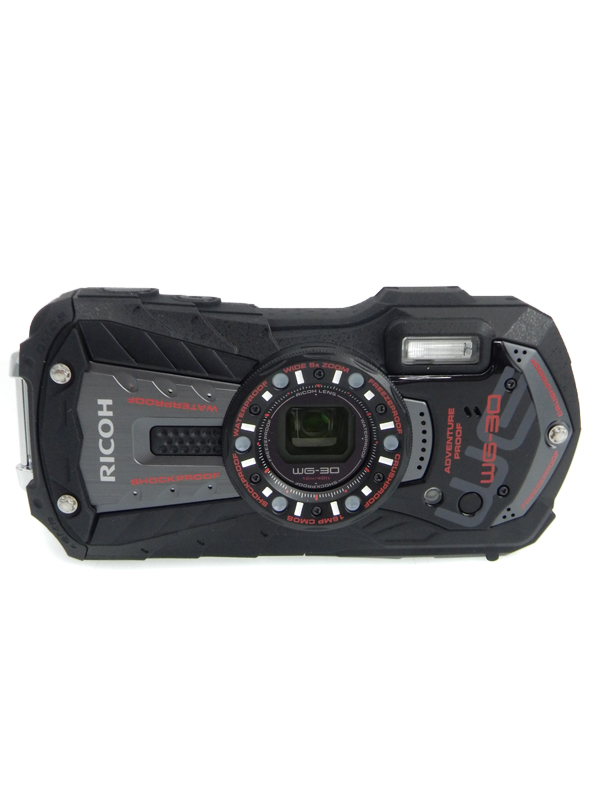 【RICOH】リコー『WG-30』エボニーブラック 1600万画素 広角28mm 光学5倍 フルHD動画 コンパクトデジタルカメラ 1週間保証【中古】b06e/h16AB