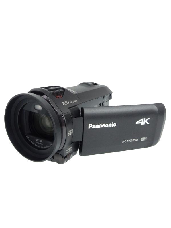 【Panasonic】パナソニック『デジタル4Kビデオカメラ』HC-VX985M-K ブラック 829万画素 64GB 光学20倍 Wi-Fi SDXC 1週間保証【中古】b03e/h03AB