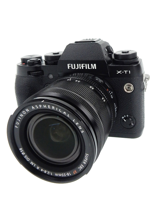 【FUJIFILM】富士フイルム『X-T1ズームレンズキット』FX-T1B/1855KIT ブラック 1630万画素 APS-C ミラーレス一眼カメラ 1週間保証【中古】b03e/h03AB