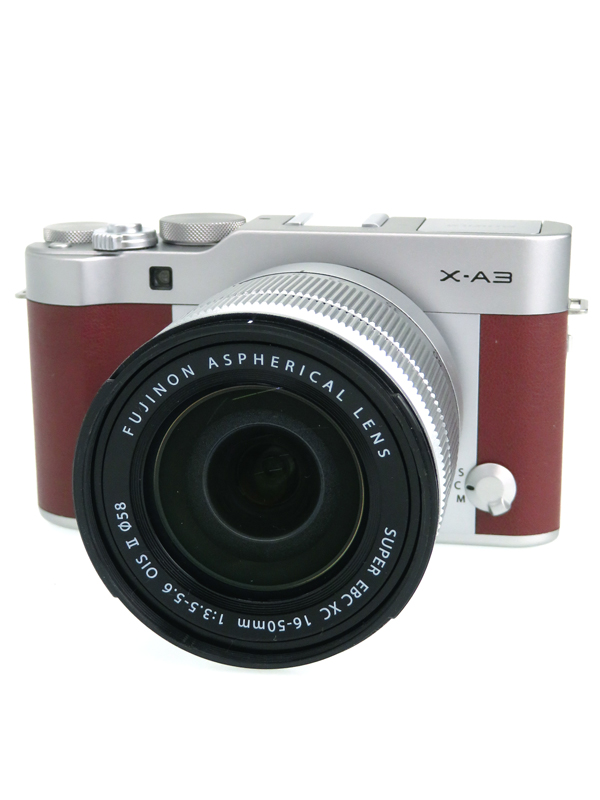 【FUJIFILM】フジフィルム『X-A3 レンズキット』F X-A3LK-XC-BW ブラウン XC16-50mmF3.5-5.6 OIS II ミラーレス一眼カメラ 1週間保証【中古】b03e/h04B