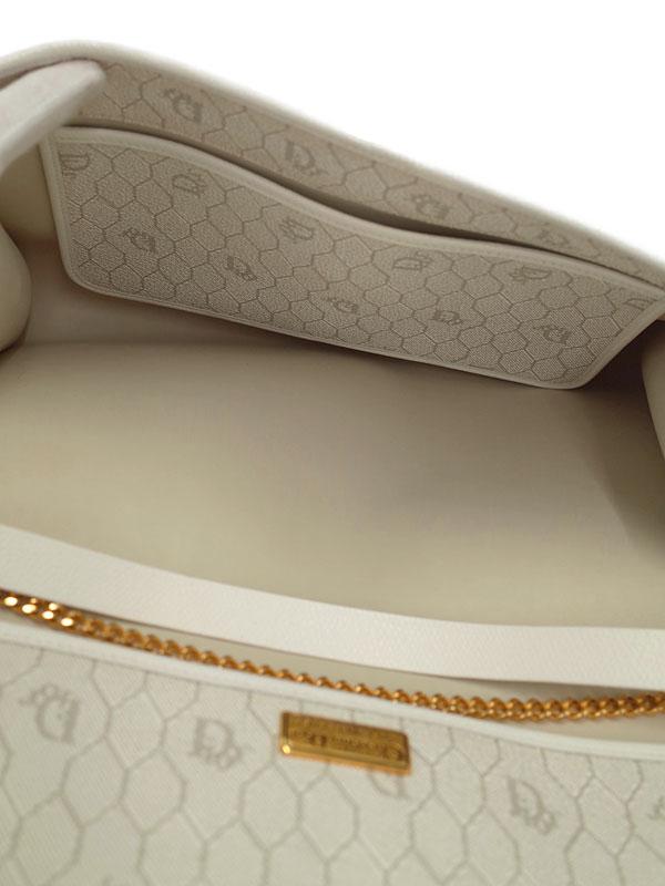 Christian Dior クリスチャンディオール ロゴボタン ハニカム柄 チェーンショルダーバッグ レディース 1週間保証IeEWDHY29