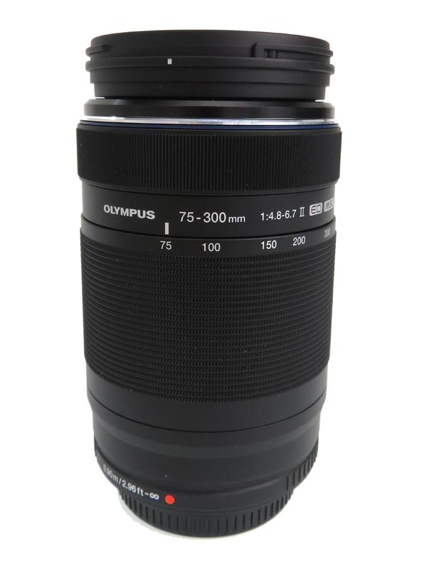 【OLYMPUS】オリンパス『M.ZUIKO DIGITAL ED 75-300mm F4.8-6.7 II』150-600mm相当 デジタル一眼カメラ用レンズ 1週間保証【中古】b05e/h12AB