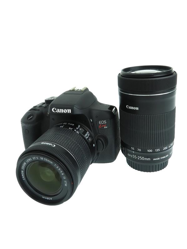 【Canon】キヤノン『EOS Kiss X8i ダブルズームキット』2420万画素 3インチ EF-S SDXC フルHD動画 デジタル一眼レフカメラ 1週間保証【中古】b06e/h17AB