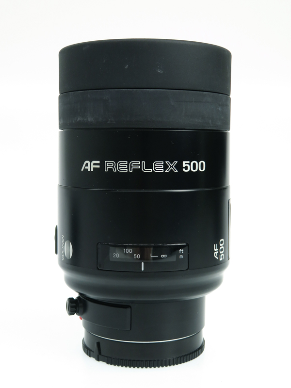 【MINOLTA】ミノルタ『MINOLTA AF REFLEX 500mm F8』超望遠・超軽量 コンパクト 反射望遠型ミラーレンズ 1週間保証【中古】b03e/h11B
