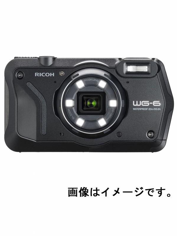 【RICOH】リコー『WG-6 ブラック』R02050 コンパクトデジタルカメラ 2000万画素 光学ズーム5倍 防水 SDXCカード 4K対応 12ヶ月保証【新品】b06e/b00N