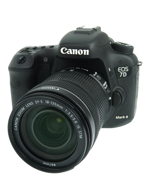 【Canon】キヤノン『EOS 7D MarkII EF-S18-135 IS STM レンズキット』約2020万画素 APS-Cサイズ デジタル一眼レフカメラ 1週間保証【中古】b05e/h21AB